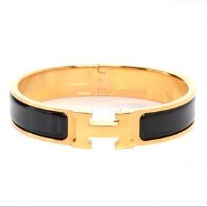 Black and Gold Clic Clac H Bracelet